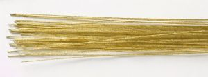50 Gold Floral Wire - 24g